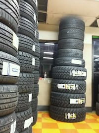 black-and-white car tires