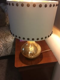 2 gold mercury lamps with shades with nailheads Palm Harbor, 34683
