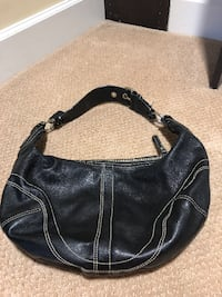 Black Coach Bag w/ silver details null