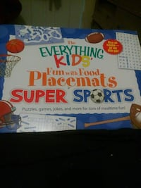 The Everything Kids fun with food placemats super sports box Hamilton, L8H 5K9