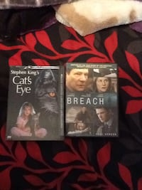 2 days cats eyes and breach movies $26 bucks cash brand new never used them pick up only  Los Angeles, 91325