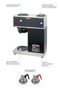 Commercial Coffee Brewer (2 burner) by BUNN