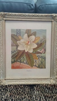 white petaled flower painting with brown wooden frame Haddon Heights, 08035