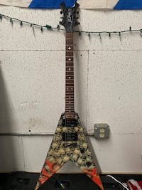 B.C. Rich Limited edition pile of skulls guitar