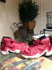 pair of red-and-white Nike basketball shoes Greer, 29651