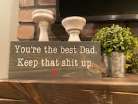 Best Dad standing sign. (Does not hang) Coram