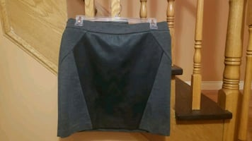 Small Dynamite Short Black Leather Grey Mini Skirt