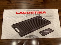 Brand New Cast iron grill/griddle for double burner Toronto, M3J 1K7