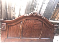 Brown wooden headboard and footboard Bakersfield, 93307