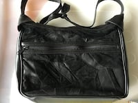 Black suede shoulder purse Toronto, M2M 2A3