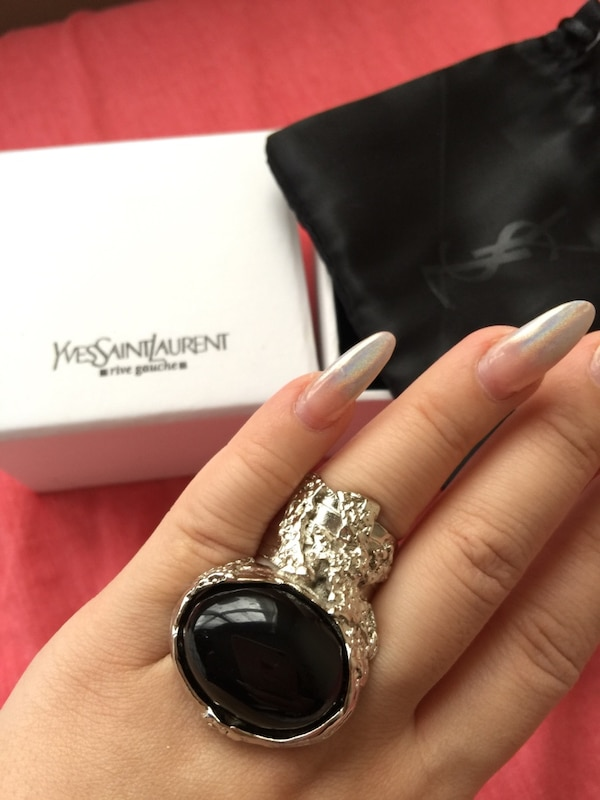 9116d5ac87c Used Yves Saint Laurent YSL ARTY RING WITH BOX and packaging US SIZE ...