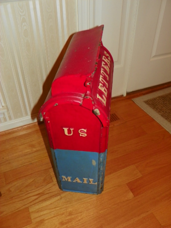 Antique cast iron postal box