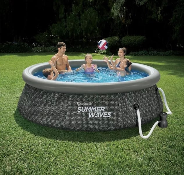 """Summer waves 10' x 30"""" easy set above ground pool with pump 84b13aa2-747e-4883-a2a7-aa53c97b79ad"""