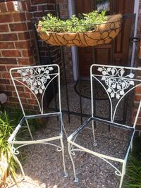 Vintage metal chairs (2 white/2 yellow) $35 per pair Bossier City, 71111