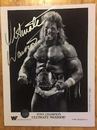 ULTIMATE WARRIOR Autographed 1990 WWF Champion Wrestling Photo Toronto