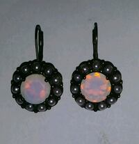 Sterling silver earrings with matching ring. Size7 Miami Gardens, 33055