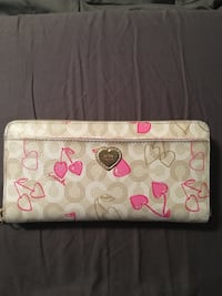 white and pink Coach leather wallet Edmonton, T6T 0V7