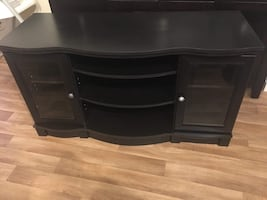 Bristol Woods TV Stand for TVS up to 50 inches. Estate black color.