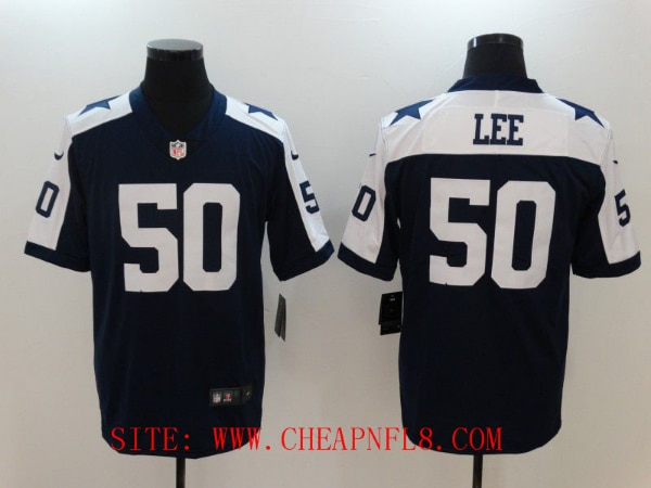 purchase cheap 9c035 7849d Men Dallas Cowboys 50 Sean Lee Blue Thanksgiving Nike Vapor Untouchable  Limited NFL Jerseys