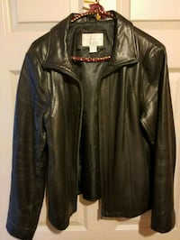 Women's blackLamb skin leather jacket size medium  Red Deer, T4R 3G1