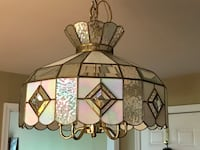 Stained glass style chandelier (comes with 4 LED bulbs) Thurmont, 21788