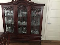 Victorian chippendale solid wood China cabinet and drawers  Beaconsfield, H9W 2N2
