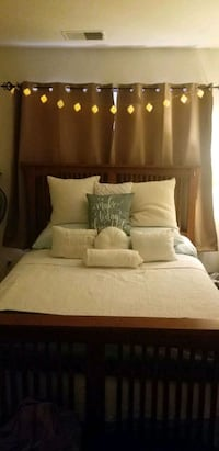 Queen Sized Bedframe with matching dresser and night stand