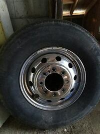 gray steel car wheel with tire