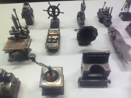 16 Piece Copper Plated Pencil Sharpener Collection