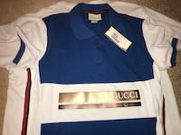 blue and white polo shirt 602 mi