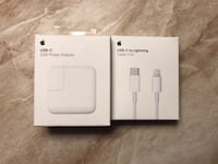 Apple USB C Power adapter and lighting cable fast charging El Paso, 79925