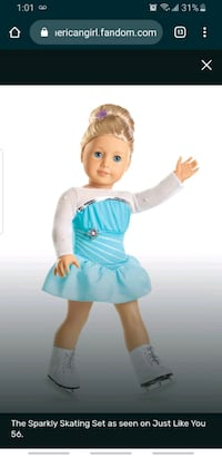 """American girl doll Sparkly Skating for 18"""" maplelea our generation dol Toronto, M6K 1S6"""