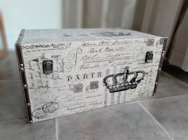 Vintage Paris Inspired Decorative Chest