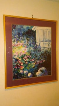 Painting of Flowers with Wood Frame Las Vegas, 89117