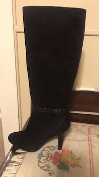 pair of black leather knee-high boots Salinas, 93901