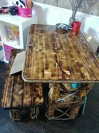 Rustic table & bench
