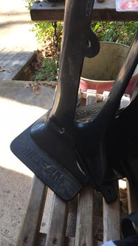 black leather chunky heeled boots Balch Springs, 75180