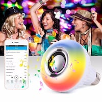 WIRELESS COLORFUL BLUETOOTH LED MUSIC BULB  Bergen