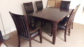 Modern Dining Room Set - Dining Table With 6 Chairs