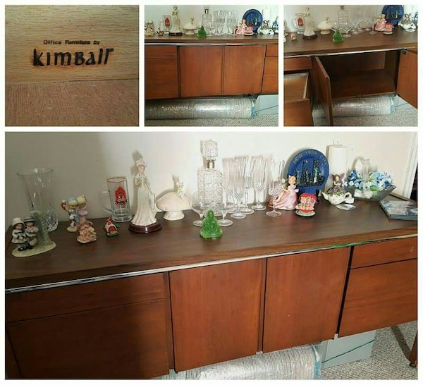 Used Vintage Mid Century Mod Credenza By Kimball For Sale In Ocala
