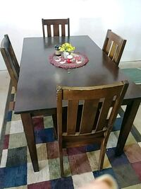 rectangular brown wooden table with six chairs dining set San Antonio, 78237