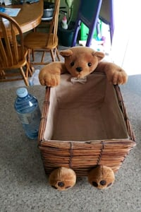 Wicker teddy bear Basket Brampton