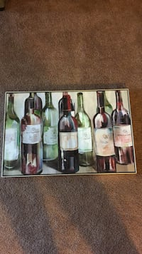 Wine bottle wall painting