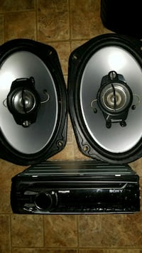 two black Pioneer coaxial speakers Knoxville, 37920