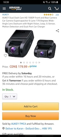 Dual dash camera for car ITS BRAND NEW!