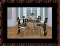 Counter height glass dining table with 4 chairs Falls Church, 22041