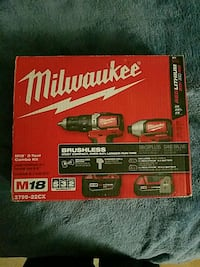 Milwaukee combo kit brand new for only $220