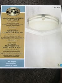 Hampton Bay Hamilton 2-Light Brushed Nickel Fluorescent Flushmount
