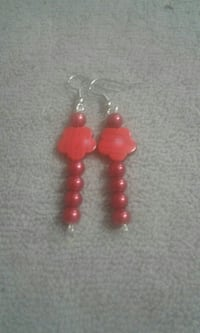 Red flower earrings  Palm Coast, 32137