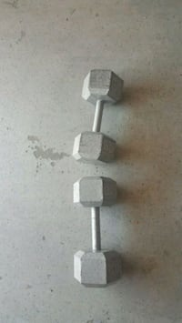 gray and black barbell and dumbbells Chestermere, T1X 1S5